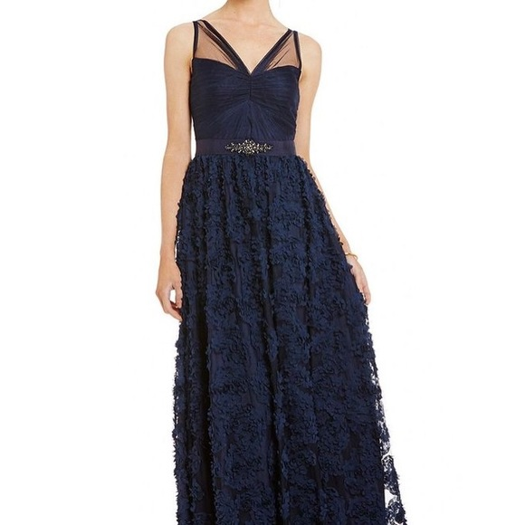4aca8922700e Adrianna Papell Dresses | Embellished Tulle Petal Chiffon Ball Gown ...